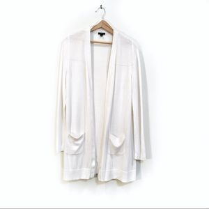TALBOTS WHITE CARDIGAN WITH POCKETS